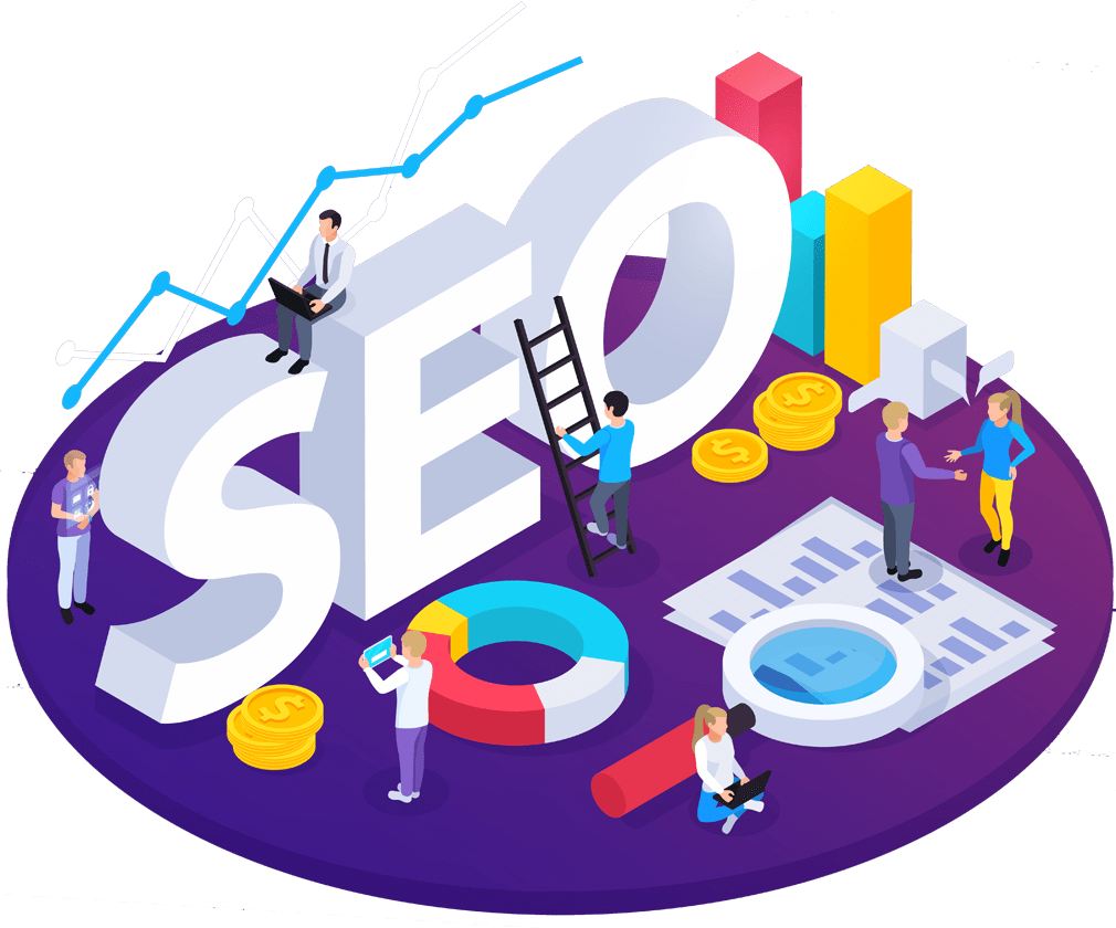 Illustration SEO, part importante du marketing numérique.